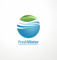 Mineral natural water branding idea