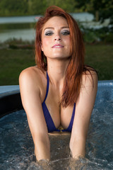 Hot Redhead in Jacuzzi