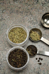 Black Pepper, Basil and Rosemary Spices