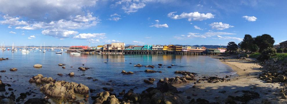 Panoramic View of Monterey Bay, California