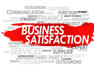 Word cloud vector illustration of Business Satisfaction