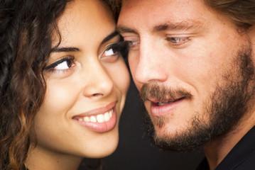 Beautiful portrait of a loving couple