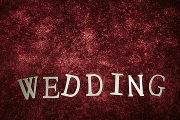 WEDDING word