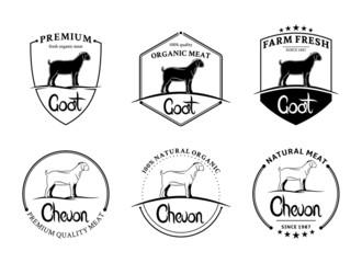 Vector Vintage Goat Labels