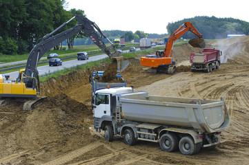 Autobahn A8 mit Baustelle