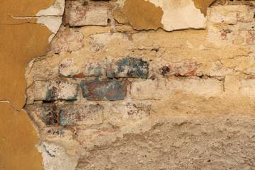 Deurstickers Oude vuile getextureerde muur Old Wall Texture