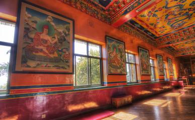 Poster Nepal kopan monastery located near kathmandu nepal