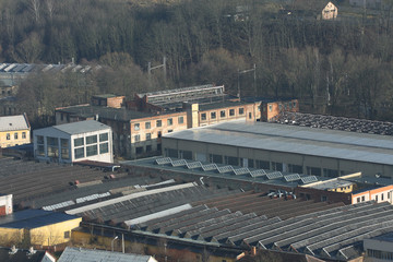 Photo of abandoned textile  factory