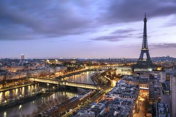 Panorama miasta Paryża z wieży Eiffla
