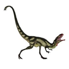 Dilong dinosaur roaring - 3D render