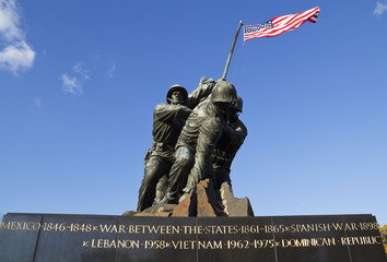 Iwo Jima Memorial in Washington DC, USA.