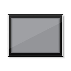 Vector of picture frame on isolated white background