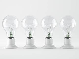 Light bulb, isolated, Realistic photo image
