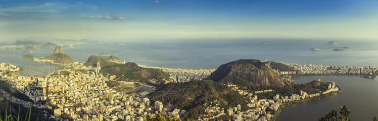 Panorama of Rio de Janeiro with Copacabana Beach, Brazil