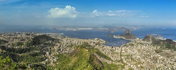 Beautiful day panorama of Rio de Janeiro, Brazil
