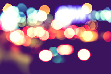 Abstract Vintage City Traffic Lights Bokeh Background