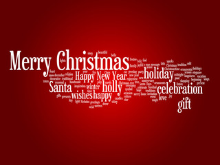 Conceptual Merry Christmas word cloud