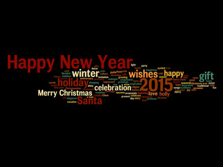 Conceptual Happy New Year word cloud