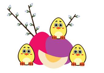 pisanki,Wielkanoc,kurczaki