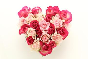 ハート形の薔薇