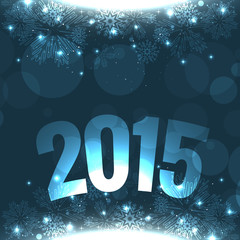 new year greeting design with 2015 text