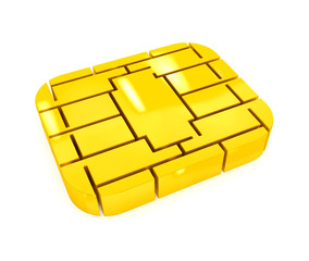 Golden SIM or Credit Card Microchip