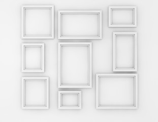 Blank Picture Frames set