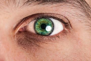 Macro photo of a male eye
