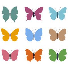 set butterfly