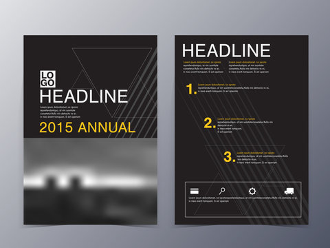 black and yellow graphic design element flyer template