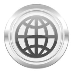 earth metallic icon
