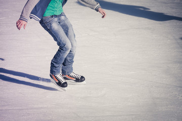 adult at the ice rink