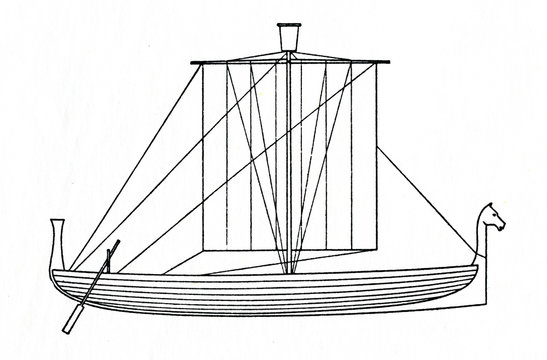 Small phoenician merchant ship