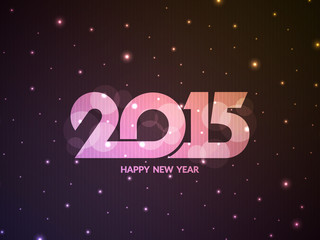 Glittering happy new year 2015 background.