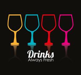 Drink design, vector illustration.