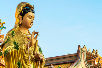 Golden Guanyin Chinese god