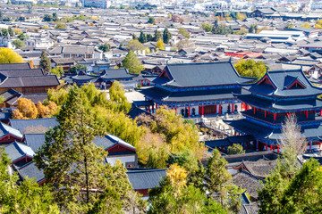 the roof of Lijiang City mountain View