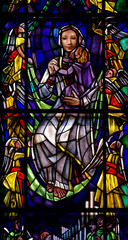 Mother and Child in stained glass