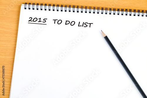 blank paper for 2015 to do list background stock photo and royalty