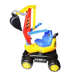Modern excavator machine, digger toy