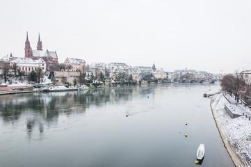 Basel, Altstadt, Rhein, Rheinufer, Münster, Rheinbrücke, Schweiz