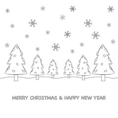 Christmas tree cartoon. Vector eps10.