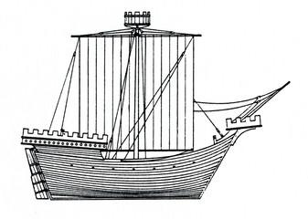 German merchant ship ca.1300