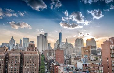 Lower Manhattan panoramic skyline, New York City