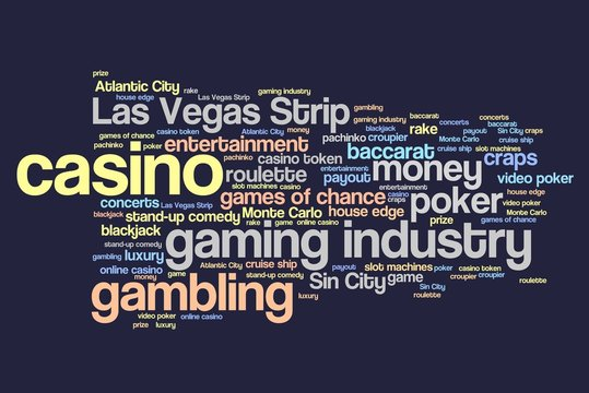 Casinos word cloud