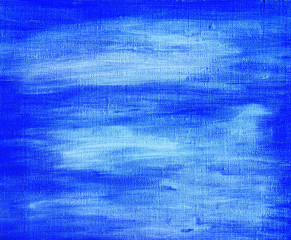 Blue painted abstract background