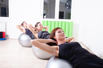 pilates ball group exercise
