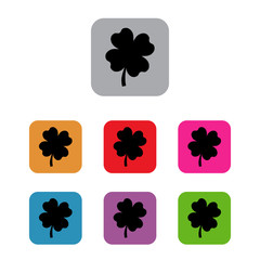 clover with four leaves saint patrick set