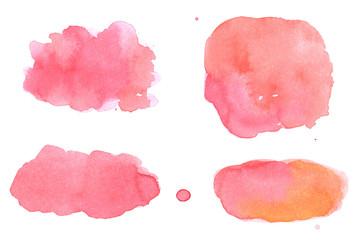 Watercolor paint background elements