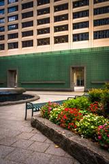 Garden at the New York Vietnam Veterans Memorial Plaza in Lower